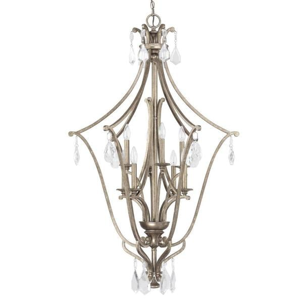 Foyer Lighting Overstock : Capital lighting montclaire collection light painted