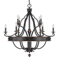 Capital Lighting Wyatt Collection 10-light Painted Surry Chandelier Light