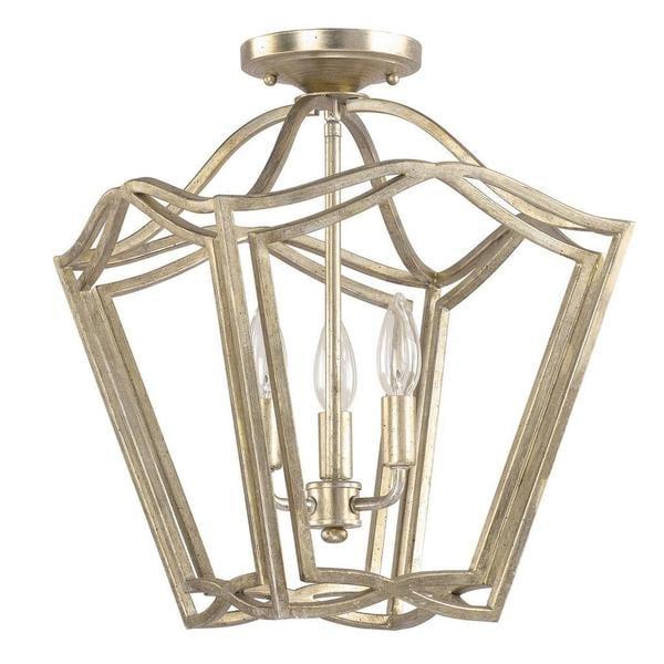 Capital Lighting Transitional 3 Light Winter Gold Foyer Flush Mount