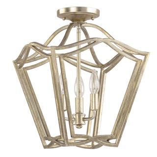 Capital Lighting Transitional 3-light Winter Gold Foyer/Flush Mount Light
