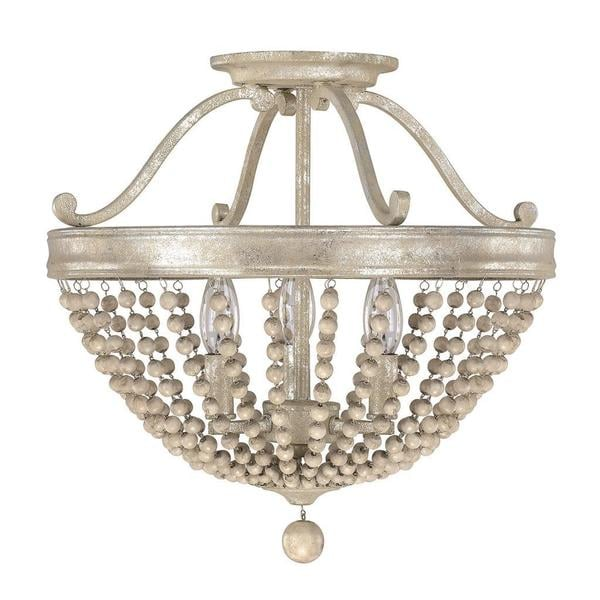 Capital Lighting Adele Collection 3 Light Painted Silver