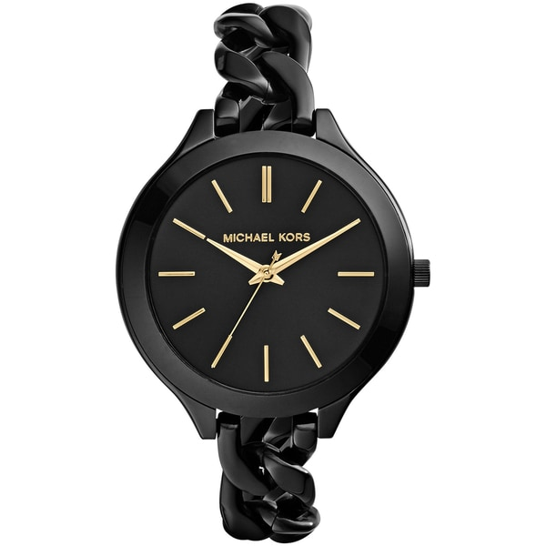 Michael Kors Women's MK3317 Slim Runway Black Watch