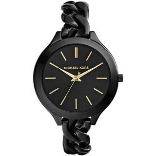 Michael Kors Women's MK3317 Slim Runway Black Watch|https://ak1.ostkcdn.com/images/products/9572083/P16760841.jpg?impolicy=medium