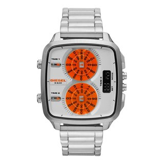 Diesel Men's DZ7304 'Hal' Digital Orange Dial Watch
