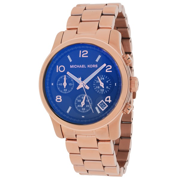 81258510db5f Michael Kors Women  x27 s MK5940 Runway Rose Goldtone Chronograph Watch