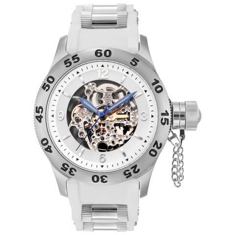Rougois Men's Automatic Skeleton Naval Diver Watch