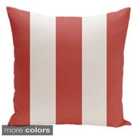 Square 20-inch Holiday Brights Collection Two-tone Striped Pillow