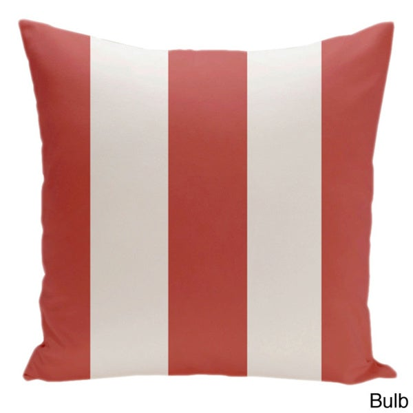 Square 18-inch Holiday Brights Collection Multi-striped Pillow