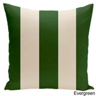 Square 26-inch Holiday Brights Collection Striped Pillow