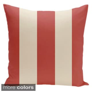 Square 18-inch Holiday Brights Collection Multi-striped Throw Pillow