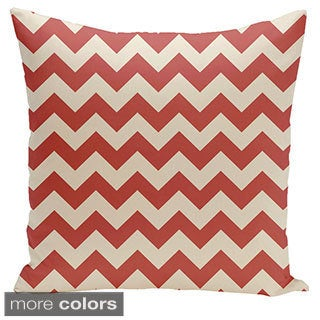 Square 26-inch Holiday Brights Collection Chevron Geometric Pillow