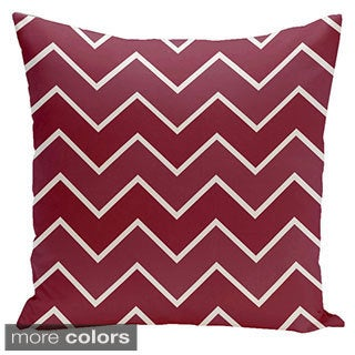 Square 26-inch Holiday Brights Collection Zig-zag Geometric Pillow