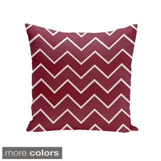 Square 20-inch Holiday Brights Collection Multi Zig-zag Geometric Pillow