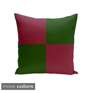 Square 26-inch Holiday Brights Collection Two-tone Geometric Pillow