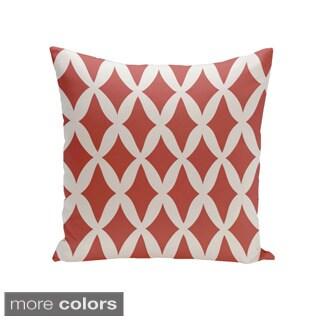Square 26-inch Holiday Brights Collection Diamond Lattice Geometric Pillow