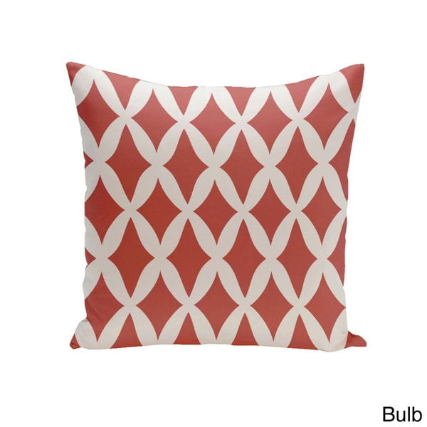 Square 20-inch Holiday Brights Collection Diamond Lattice Geometric Pillow