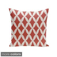Square 18-inch Holiday Brights Collection Diamond Lattice Geometric Pillow