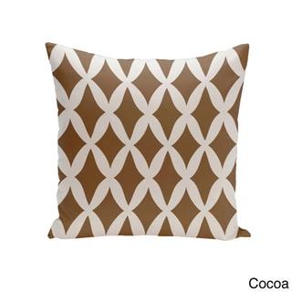 Square 16-inch Holiday Brights Collection Diamond Lattice Geometric Pillow (Cocoa)