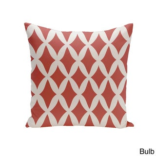 Square 16-inch Holiday Brights Collection Diamond Lattice Geometric Pillow (Bulb)