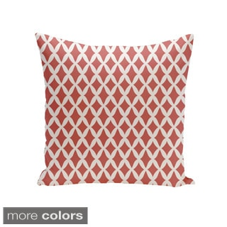 Square 16-inch Holiday Brights Collection Small Diamond Geometric Pillow