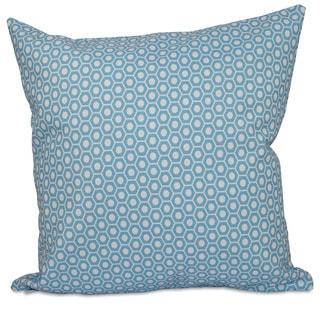 Square 26-inch Small Hexagon Geometric Decorative Throw Pillow
