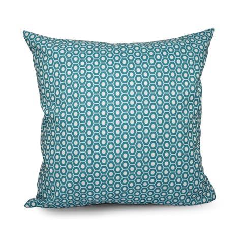 Square 20-inch Hexagonal Geometric Decorative Throw Pillow