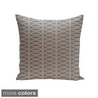 Square 26-inch Oval Geometric Decorative Throw Pillow