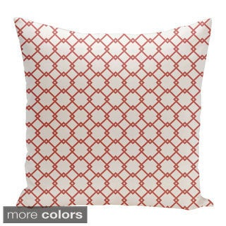 Square 26-inch Holiday Brights Collection Geometric Pillow