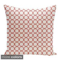 Square 18-inch Holiday Brights Collection Geometric Pillow