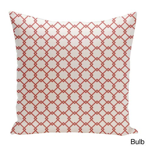 Square 16-inch Holiday Brights Collection Geometric Pillow