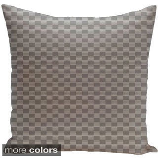 Square 20-inch Geometric Decorative Two-tone Checkered Throw Pillow