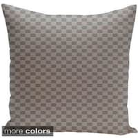 Square 18-inch Geometric Decorative Two-tone Checkered Throw Pillow