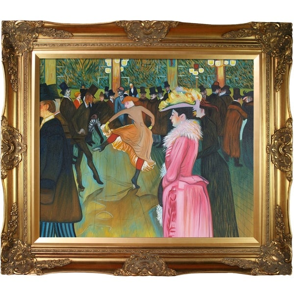 Henri Toulouse-Lautrec At the Moulin Rouge The Dance Hand Painted Framed Canvas Art
