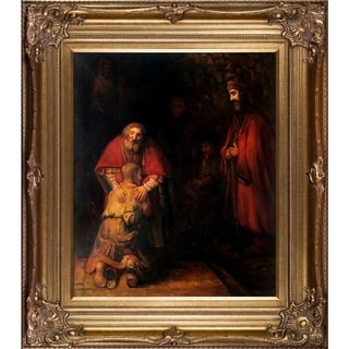 Rembrandt Return of the Prodigal Son Hand Painted Framed Canvas Art