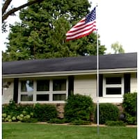 American Pride Flag and Flag Pole Set