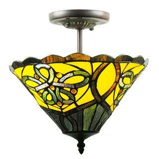Tiffany-style Amalie Ceiling Fixture