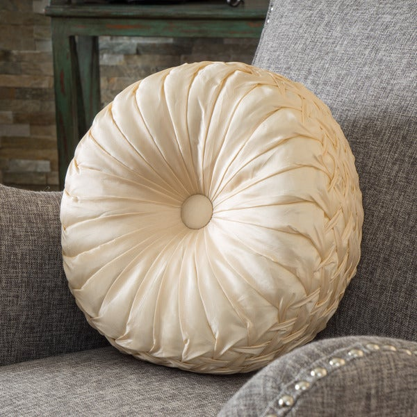 Shop 14 Inch Round Sateen Pillow By Christopher Knight