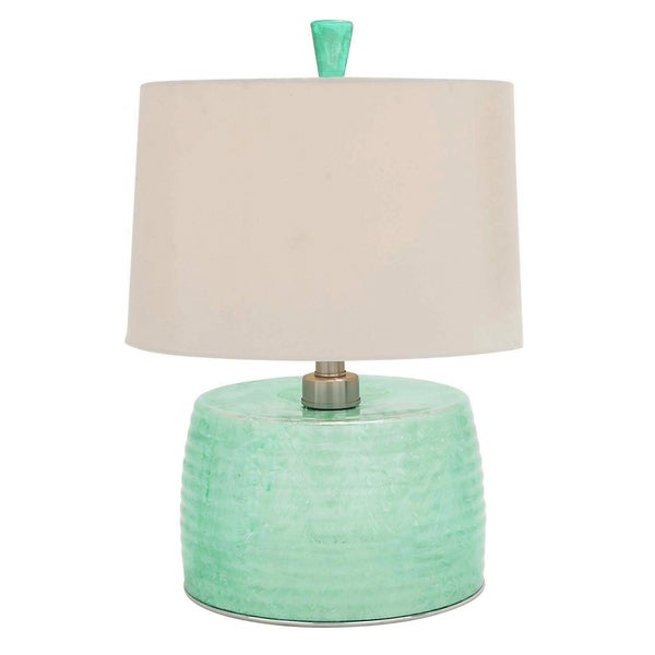 Clear Aqua Glass Jug 28 Inch Table Lamp