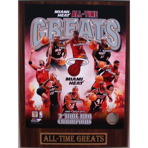 Miami Heat All Time Greats Plaque