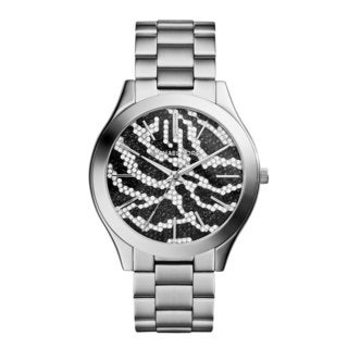 Michael Kors Women's MK3314 Slim Runway Zebra Dial Watch