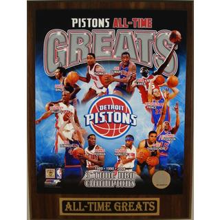 Detroit Pistons All Time Greats Plaque