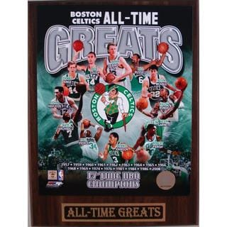 Boston Celtics All Time Greats Plaque