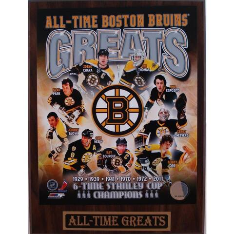Boston Bruins All Time Greats Plaque