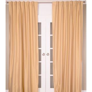 Faux Silk Taffeta Curtain Panel