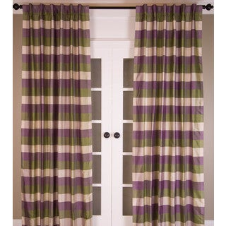 Signature Pure Silk Dupioni Check Curtain Panel