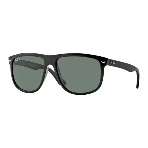 Ray-Ban Unisex 'RB 4147 601/58' Black Plastic Polarized Sunglasses (60 mm)