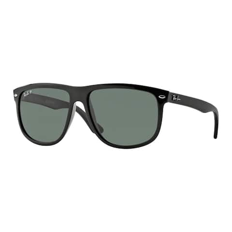 Ray-Ban Unisex 'RB 4147 601/58' Black Plastic Polarized Sunglasses (60 mm)
