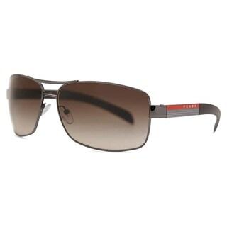 Prada Linea Rossa PS 54IS 5AV6S1 65 Gunmetal Man Rectangle Sunglasses