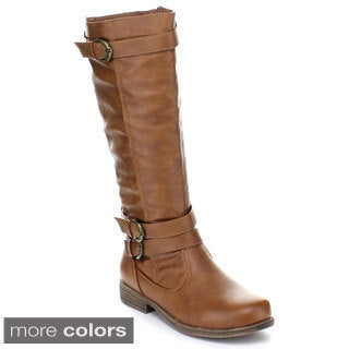 Fashion Focus Women's 'Michael-4' Knee-high Riding Boot