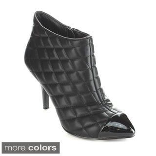 C-label Women's 'Natalie-3' Quilted Stiletto Heel Ankle Booties